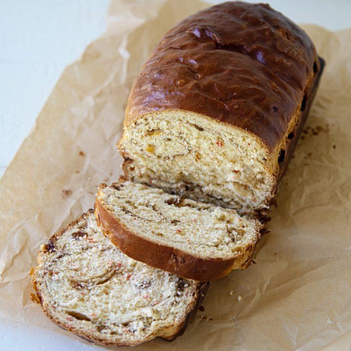 Roasted Carrot Cinnamon Raisin Yeast Bread Slider