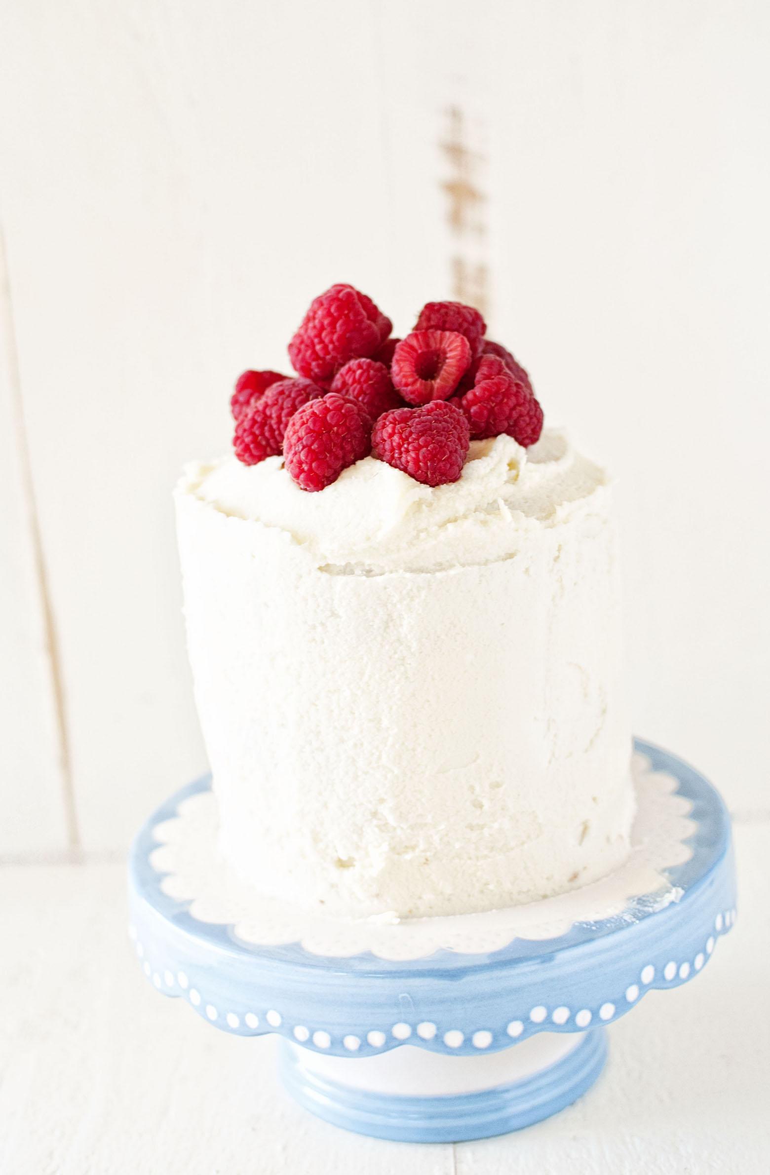 Sweet Corn and Raspberry Layer Cake
