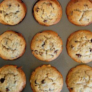 Banana Espresso Chocolate Chip Muffins