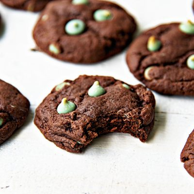 Chocolate Mint Frappuccino Cookies
