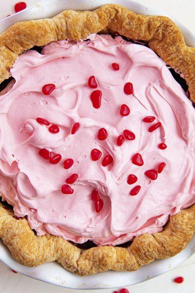 Cinnamon Red Hots Chocolate Cream Pie