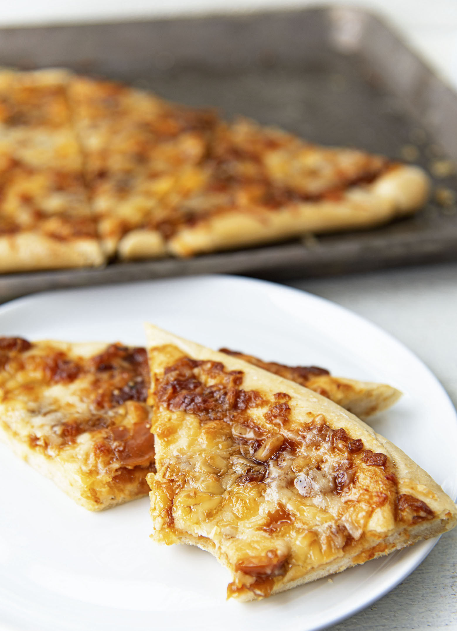 French Onion Soup Flatbread on a plate