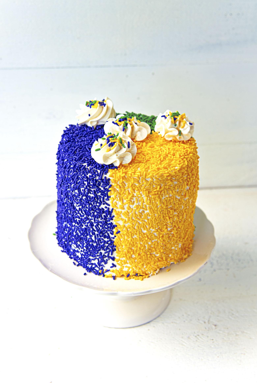 King Cake Layer Cake whole cake