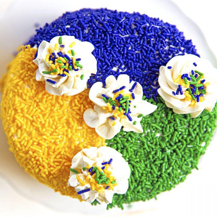 King Cake Layer Cake