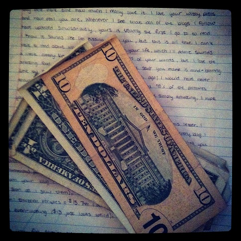 Money from a reader