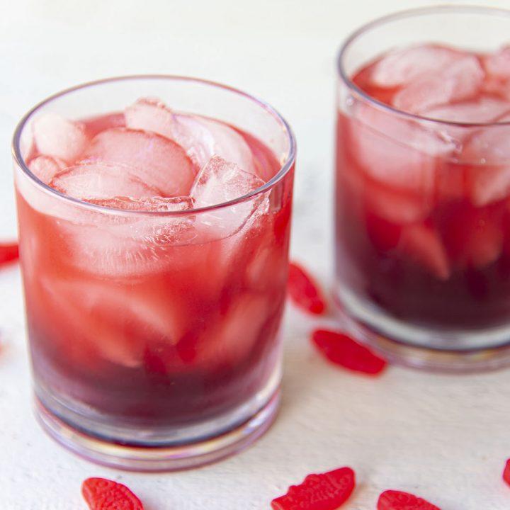 Red Swedish Fish Cocktail