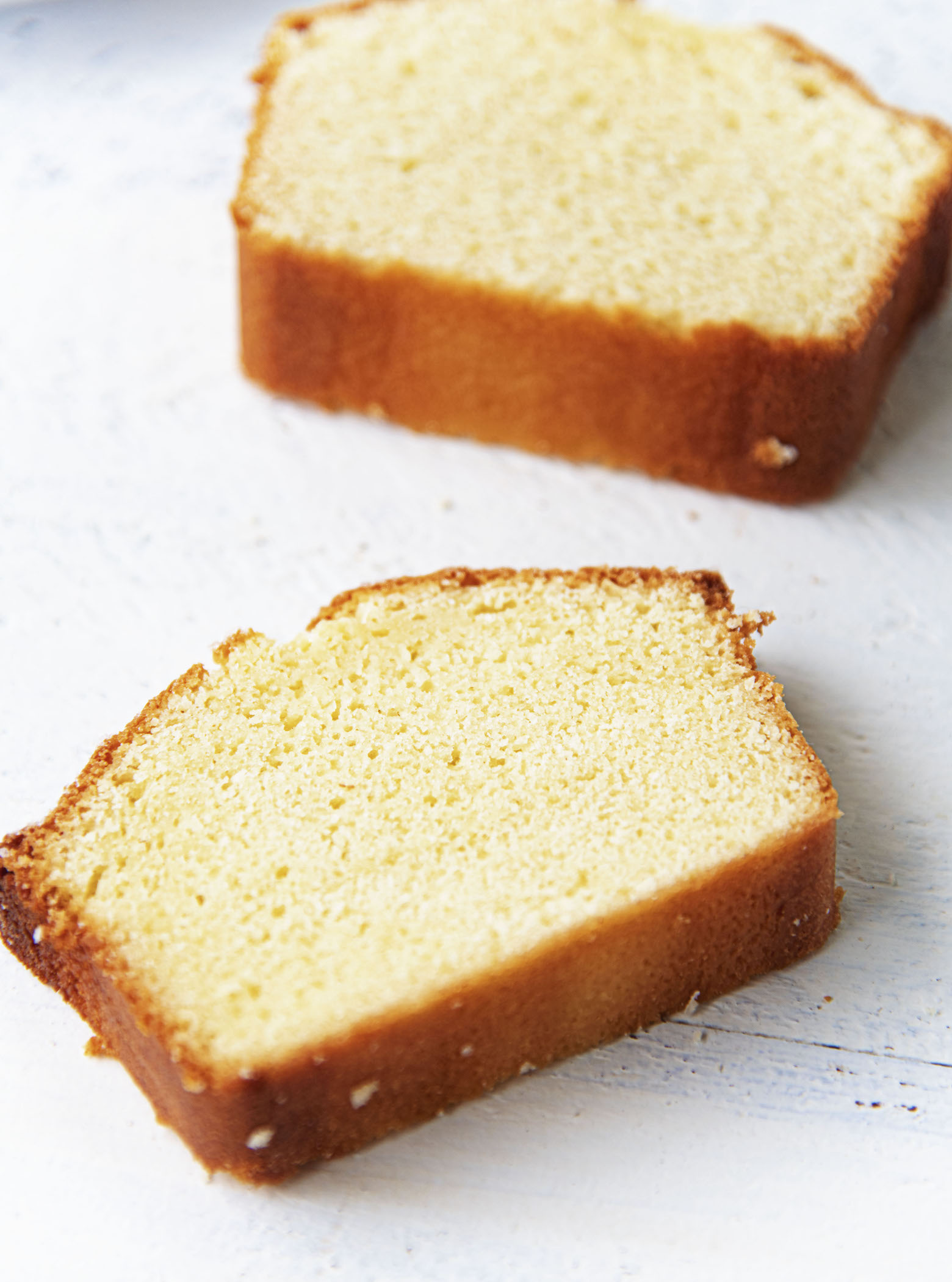 Vanilla Butter Loaf Cake slices
