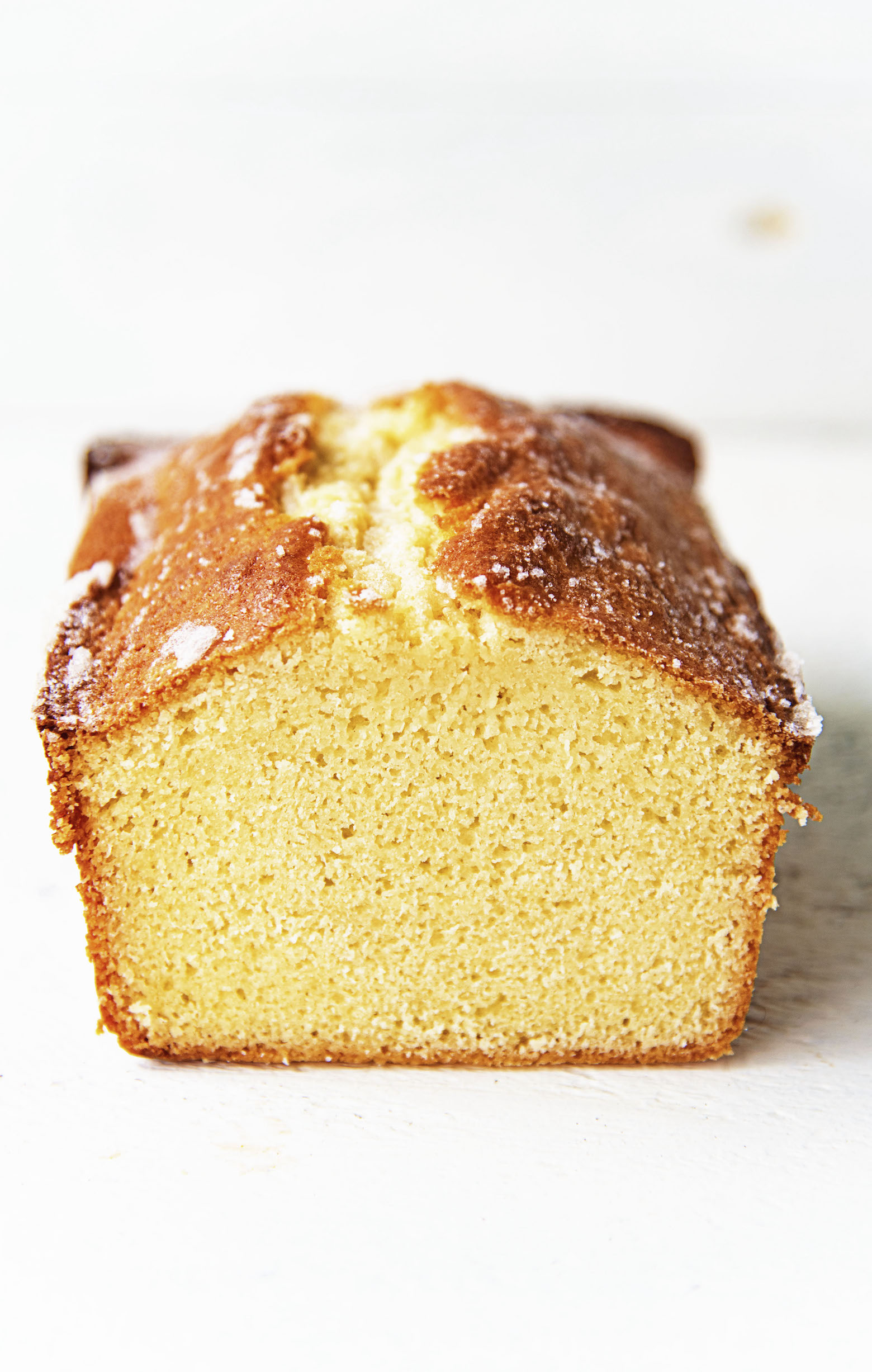 Vanilla Butter Loaf Cake slice cut view
