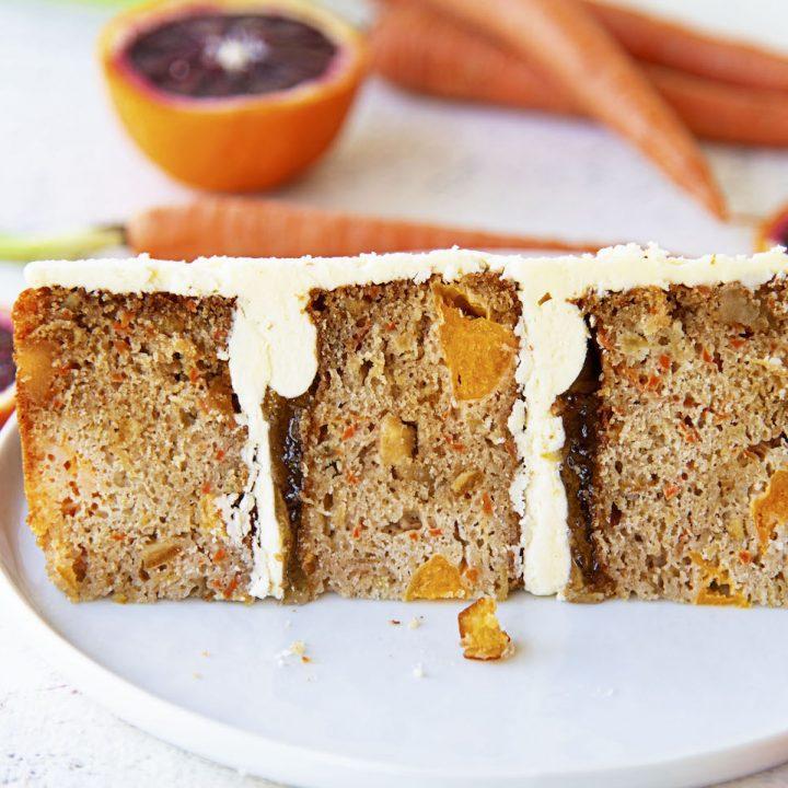 Citrus Sunshine Carrot Cake with Orange Marmalade Buttercream