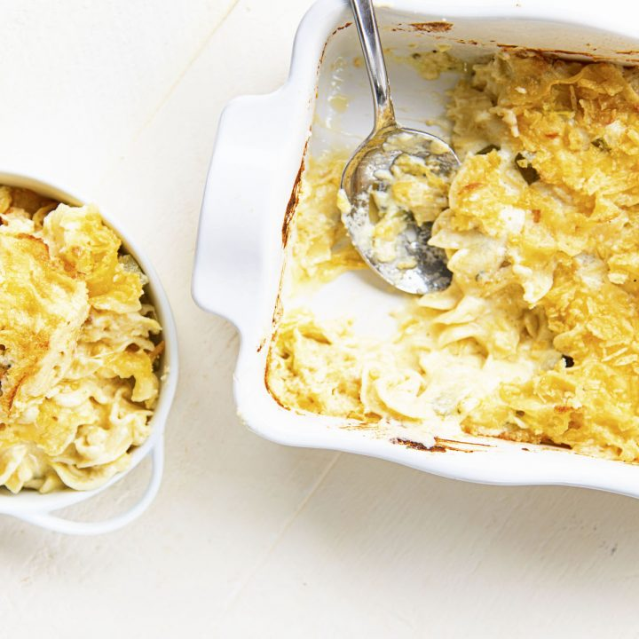 Dill Pickle Cheddar Macaroni and Cheese