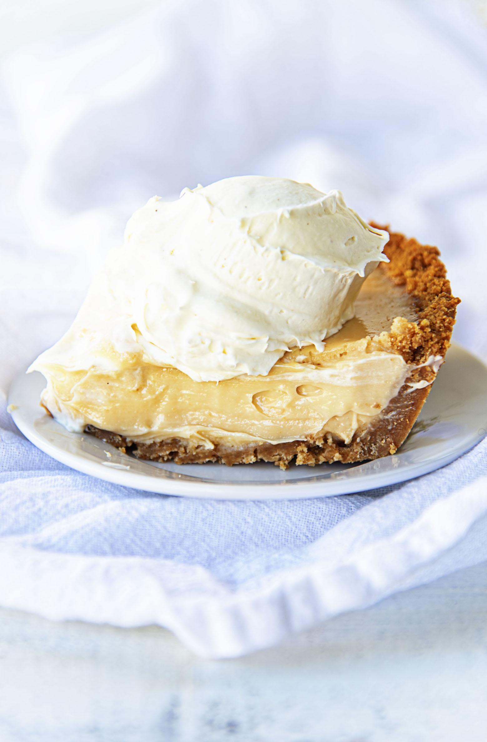 Slice of Key Lime Vanilla Ice Cream Pie