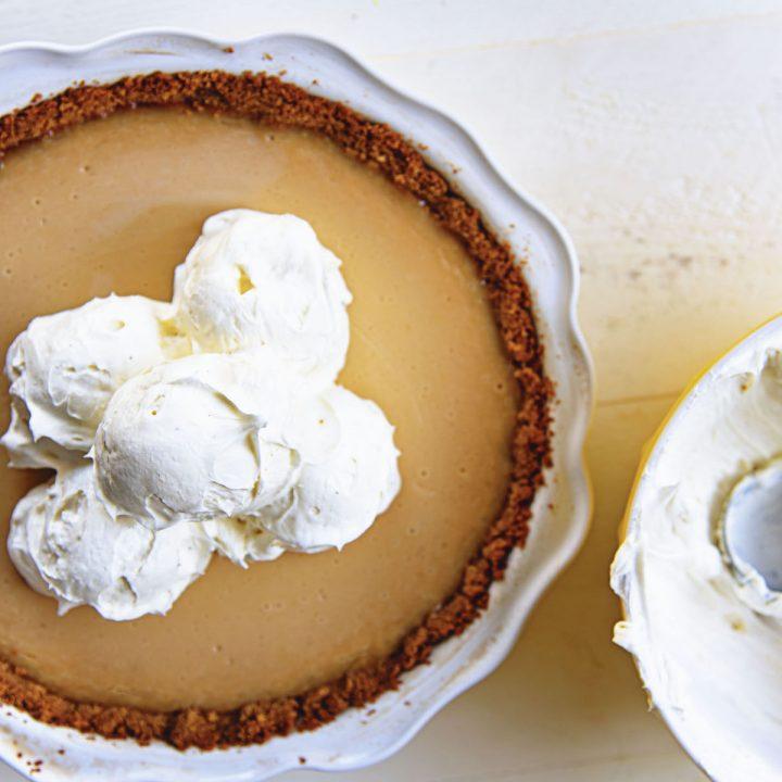 Key Lime Vanilla Ice Cream Pie