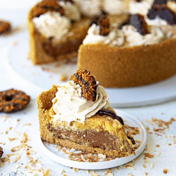 Samoas Chocolate Coconut Cream Pie