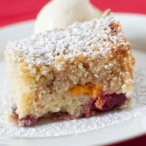 Apricot Cherry Buckle