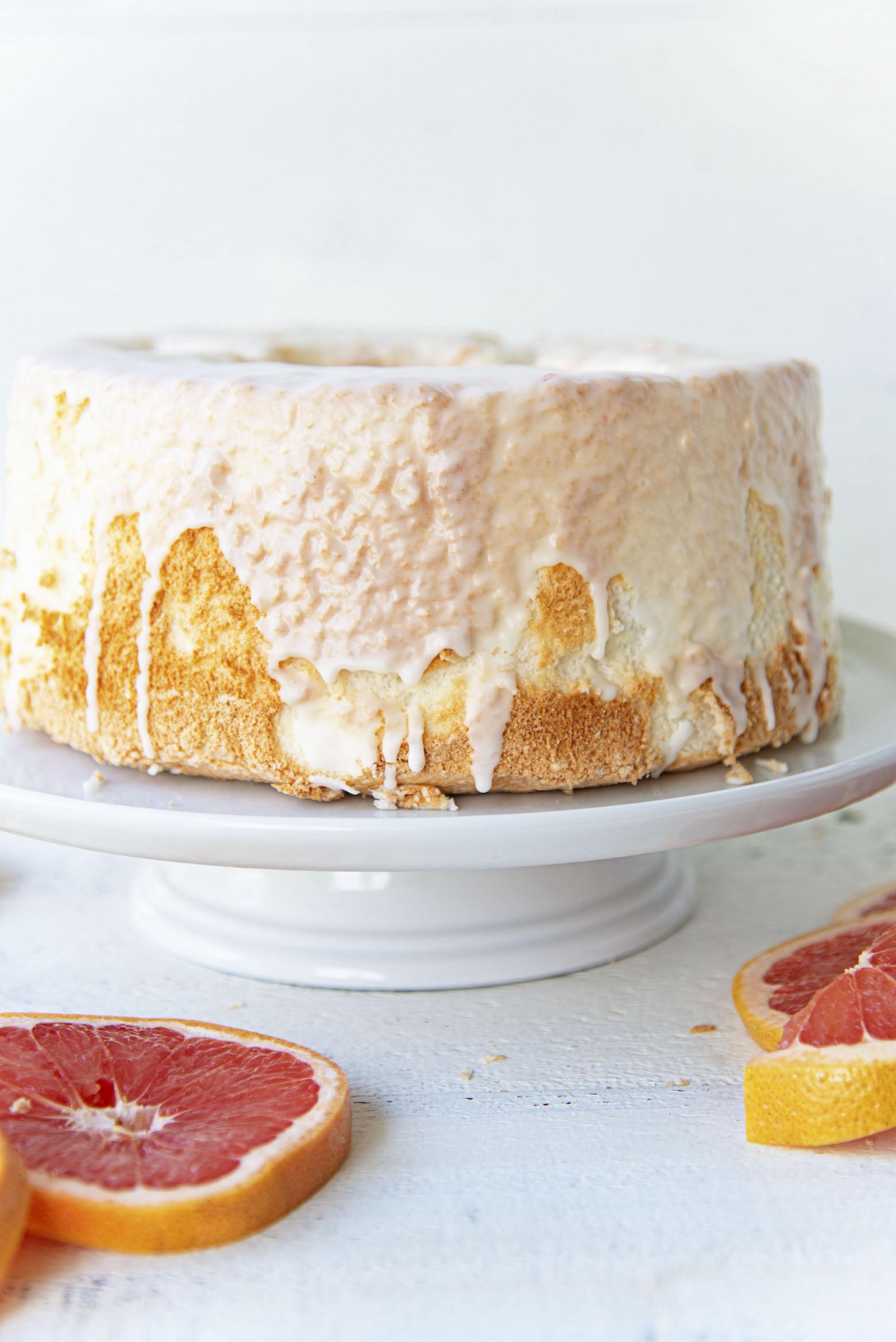 Side view of full cake.