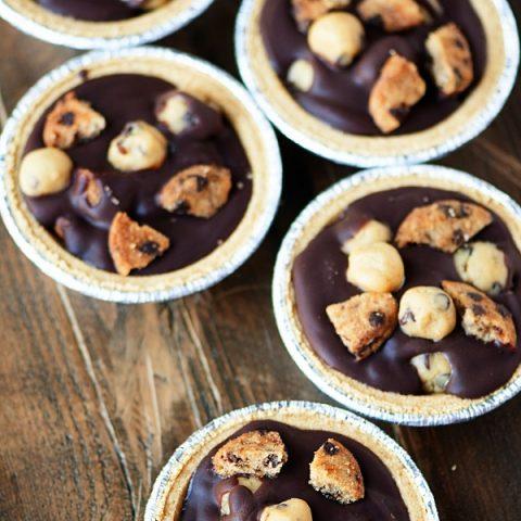 Chocolate Chip Cookie Dough Chocolate Tarts