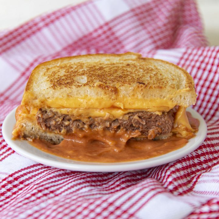 Grilled Cheese Tomato Soup Burger