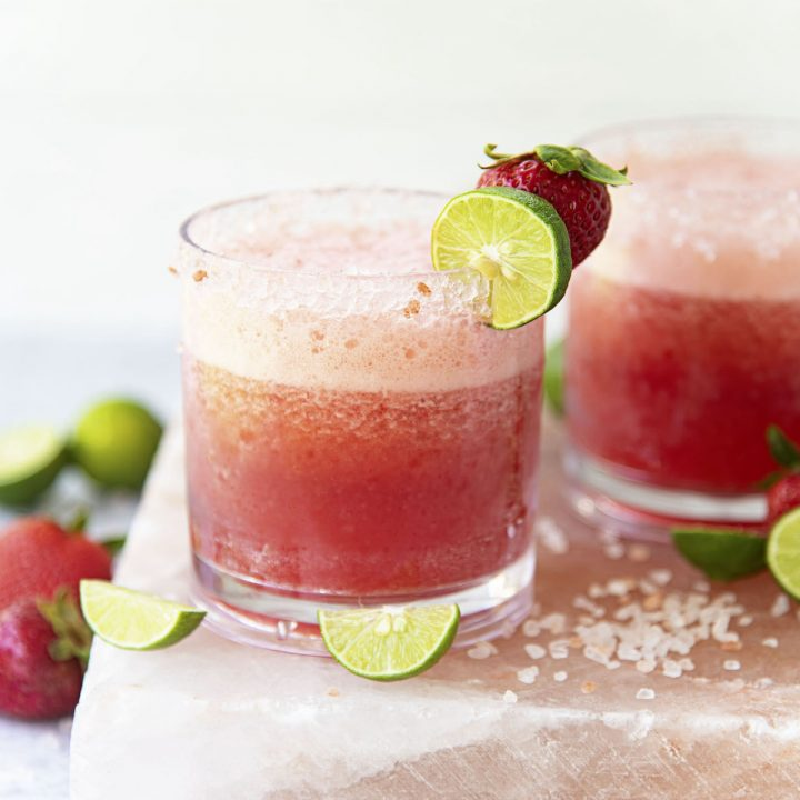 Strawberry Rhubarb Key Lime Margarita