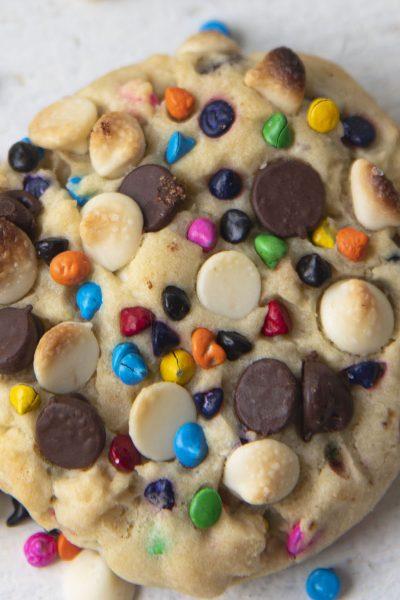 Double Chocolate Rainbow Chip Cookies