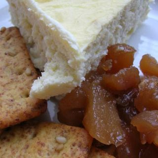 Blue Cheese Cheesecake with Pear Onion Jam