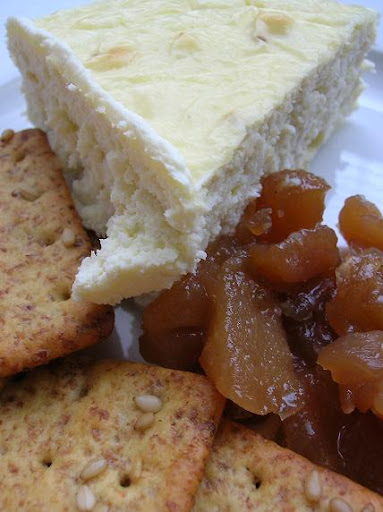 Blue Cheese Cheesecake with Onion Pear Jam