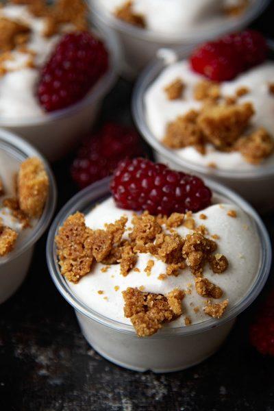 Mixed Berry Cobbler Pudding Shots