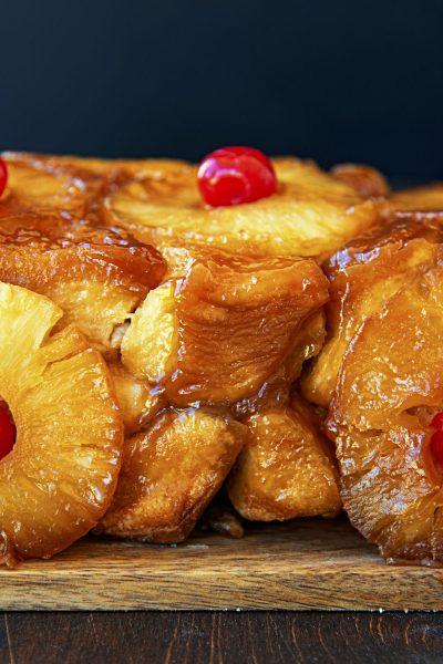 Pineapple Upside Down Cake Monkey Bread