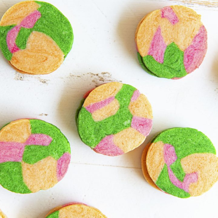 Rainbow Sherbet Sandwich Cookies