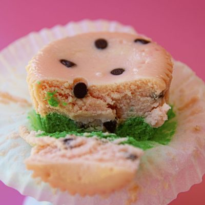 Watermelon Cheesecake Bites