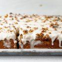 Brown Butter Peach Crumb Cake