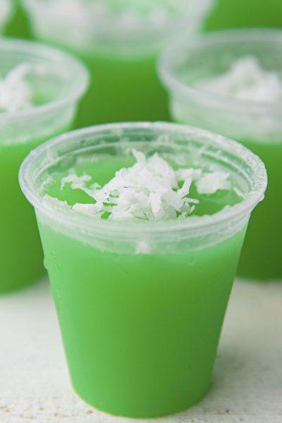 Lime Coconut Jello Shots