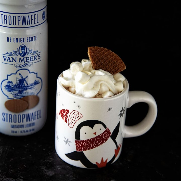 Spiked Stroopwafel Hot Chocolate